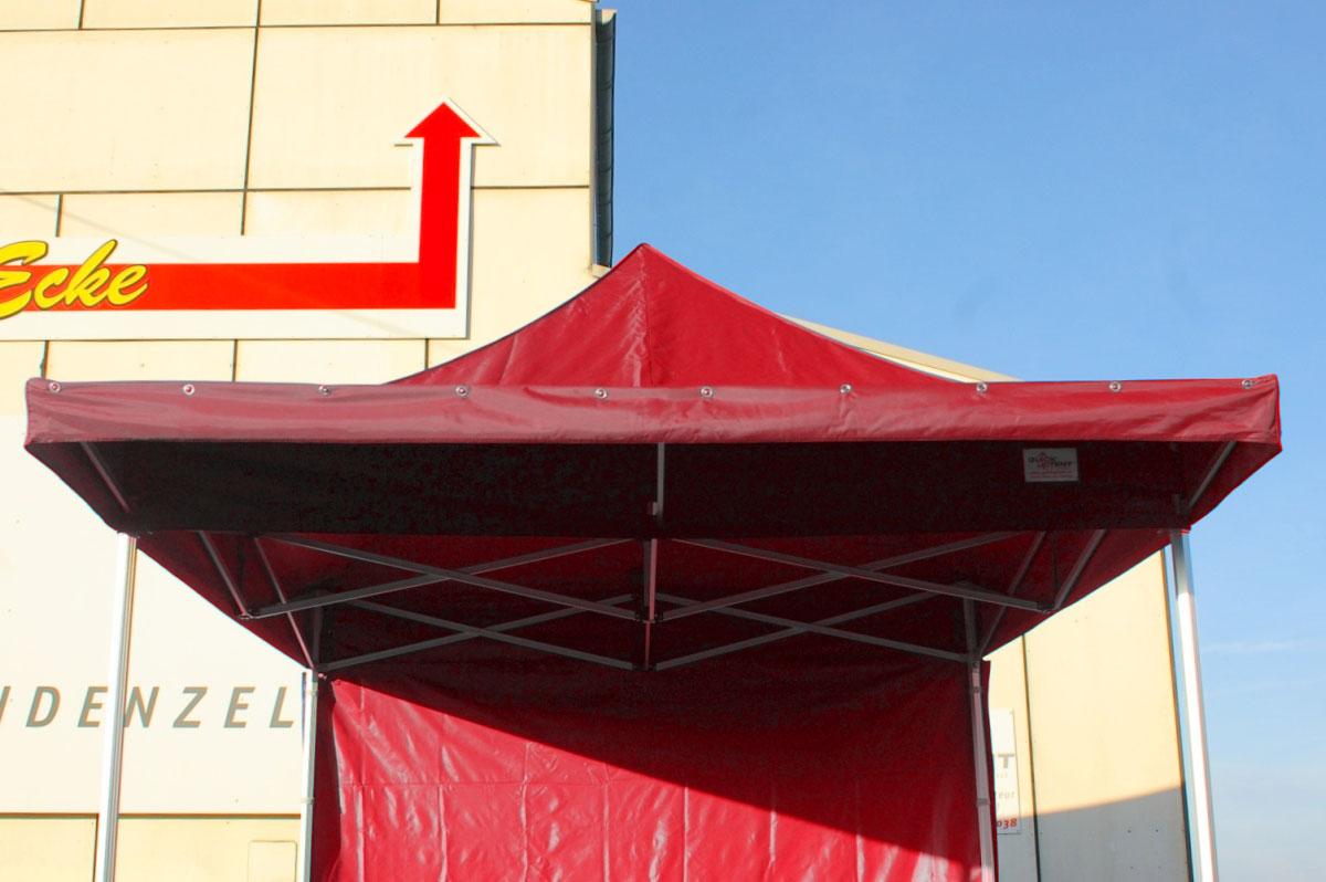 Das ALU-HEXAGON-Faltzelt mit Vordach - QUICKUPTENT