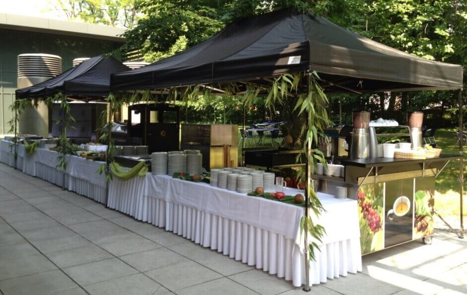 QUICKUPTENTs als Catering-Zelte